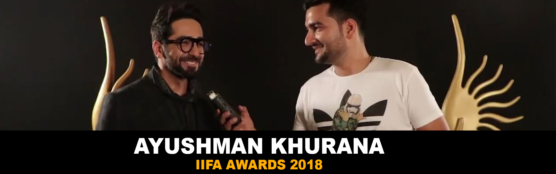 IIFA 2018 | Ayushmann Khurrana with RJ Abhimanyu